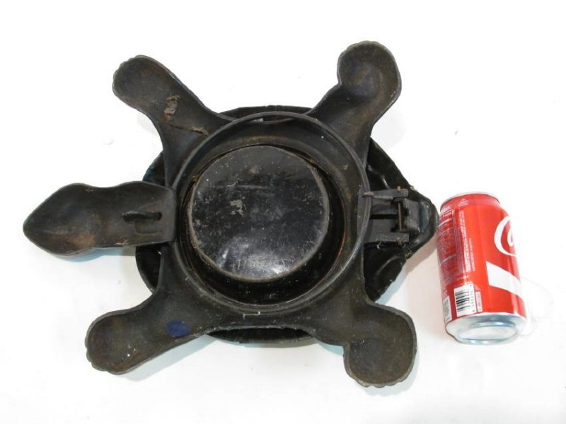 ANTIQUE 1890 MECHANICAL CAST IRON TURTLE SPITOON - 6