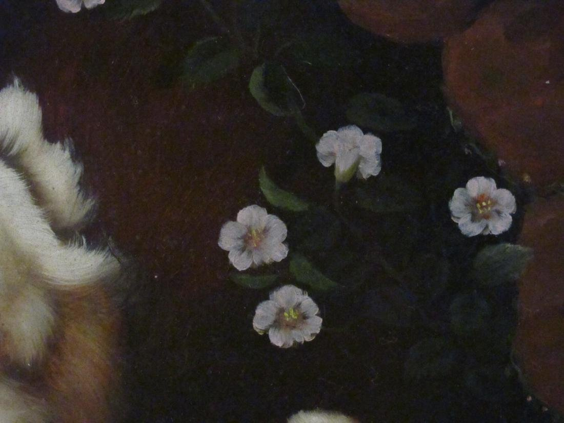 HENRY ROLAND OIL ON PANEL PAINTING: TWO DOGS - 4