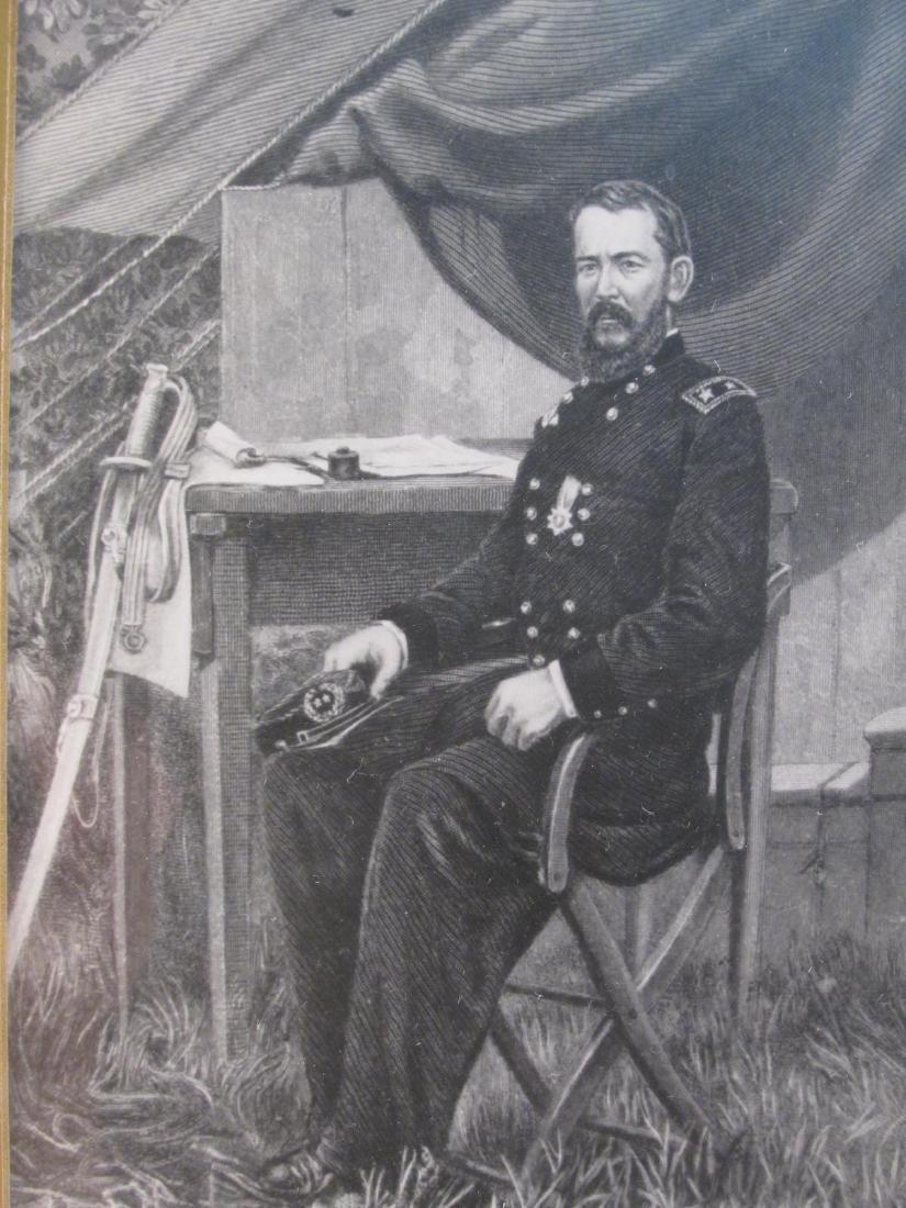 ANTIQUE FRAMED MAJOR GENERAL SIGNATURE CARD - 2