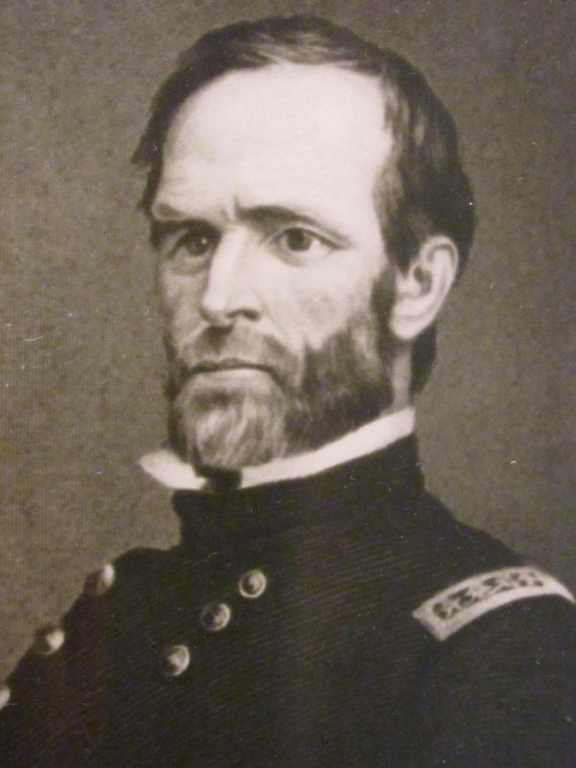 WILLIAM TECUMSEH SHERMAN FRAMED SIGNATURE 1886 - 3