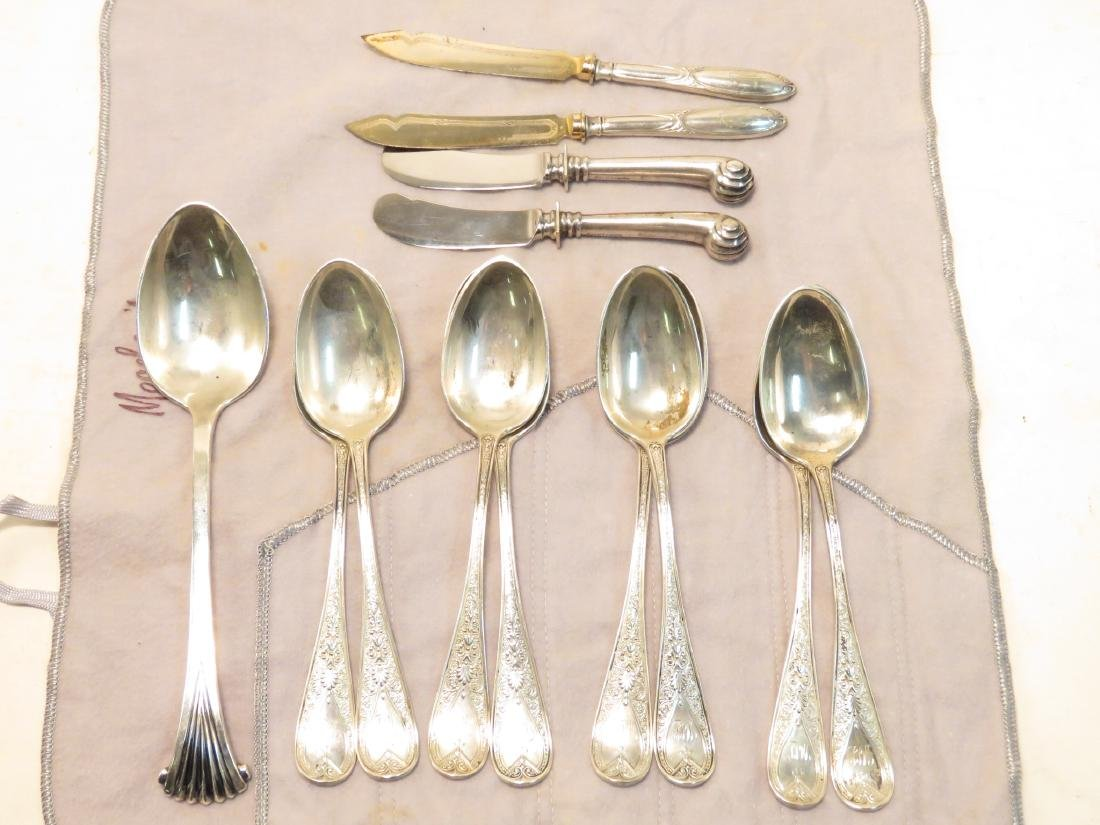 STERLING SILVER FLATWARE: TUTTLE, BLACK STAR FROST