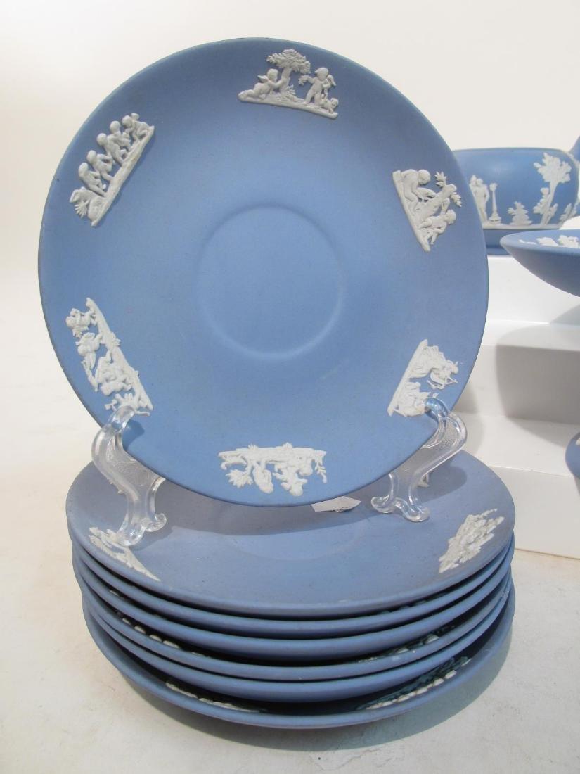 WEDGWOOD BLUE JASPERWARE TEA SET: 31 PCS - 2