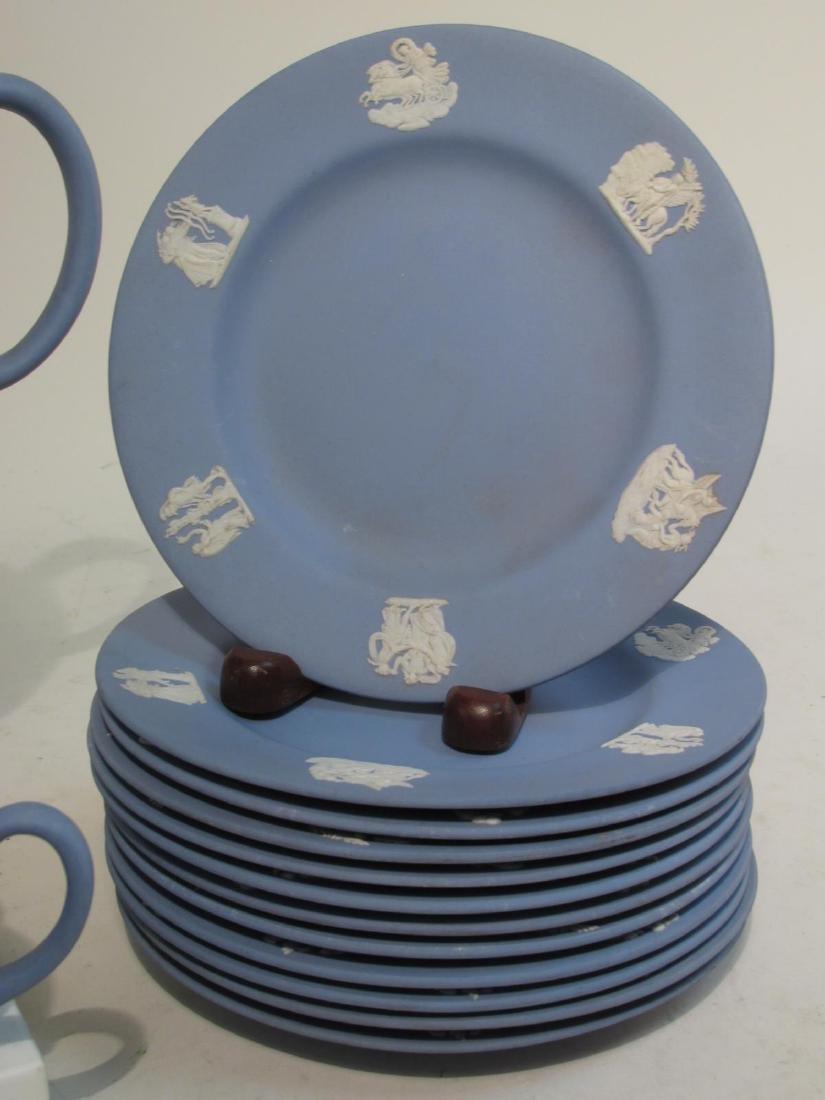 WEDGWOOD BLUE JASPERWARE TEA SET: 31 PCS - 7