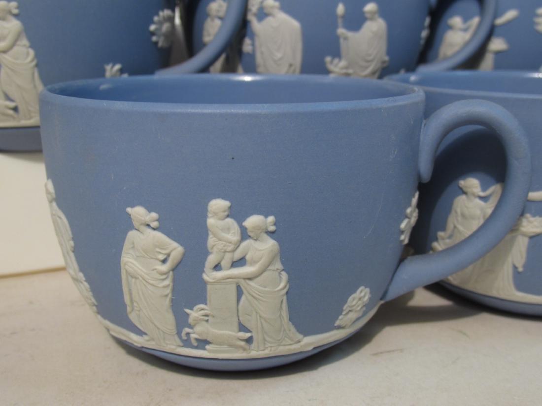 WEDGWOOD BLUE JASPERWARE TEA SET: 31 PCS - 8