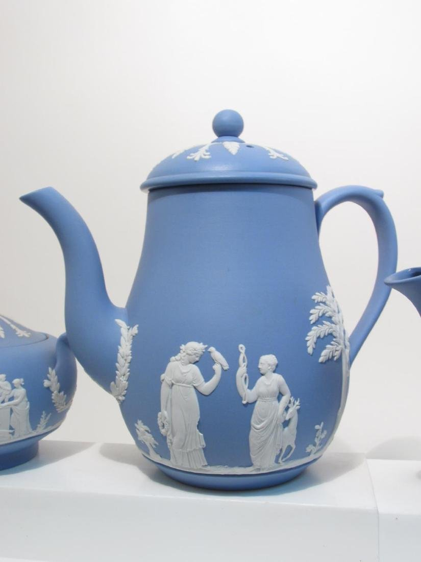 VINTAGE WEDGWOOD BLUE JASPERWARE TEA SET 29 PCS - 2