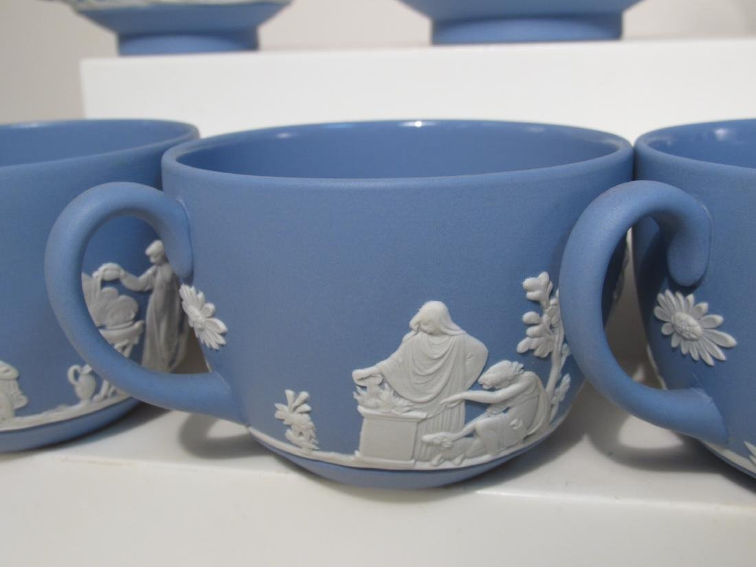 VINTAGE WEDGWOOD BLUE JASPERWARE TEA SET 29 PCS - 6