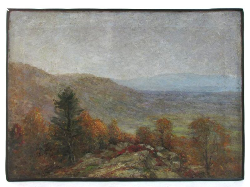 HENRY HAMMOND AHL OIL ON CANVAS LANDSCAPE PAINTING