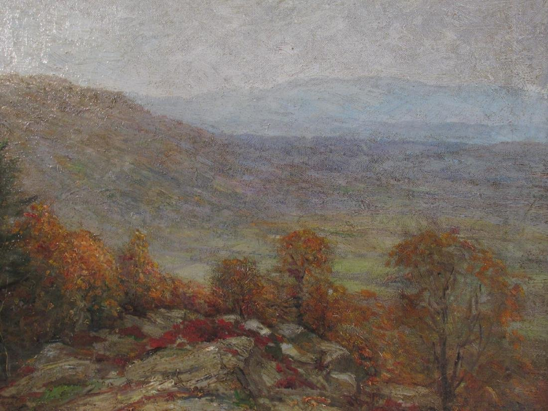 HENRY HAMMOND AHL OIL ON CANVAS LANDSCAPE PAINTING - 3