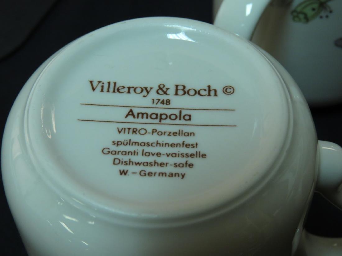 "VILLEROY & BOCH ""AMAPOLA"" PORCELAIN DINNERWARE 106 - 15"
