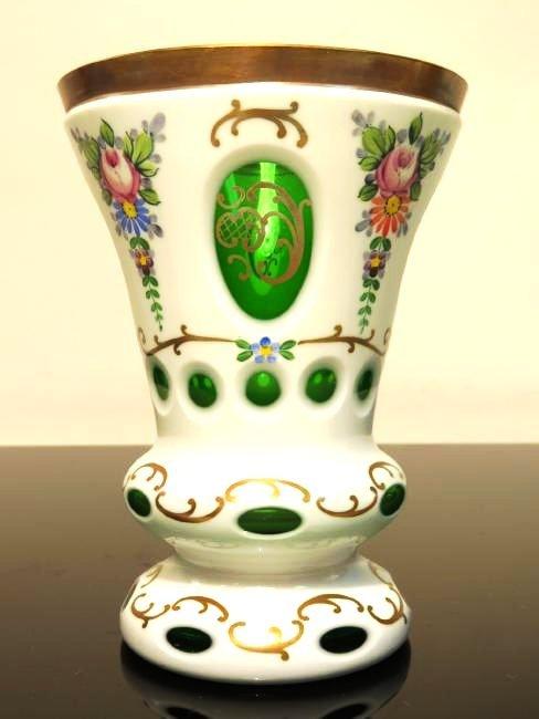 ESTATE ART GLASS LOT: BOHEMIAN, ENGRAVED ETC. 8 PC - 10