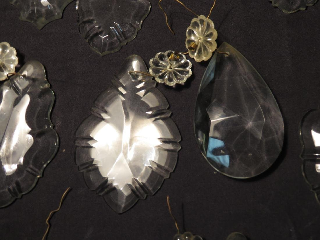 ASSORTED CUT GLASS & CRYSTAL HANGING PRISMS - 3