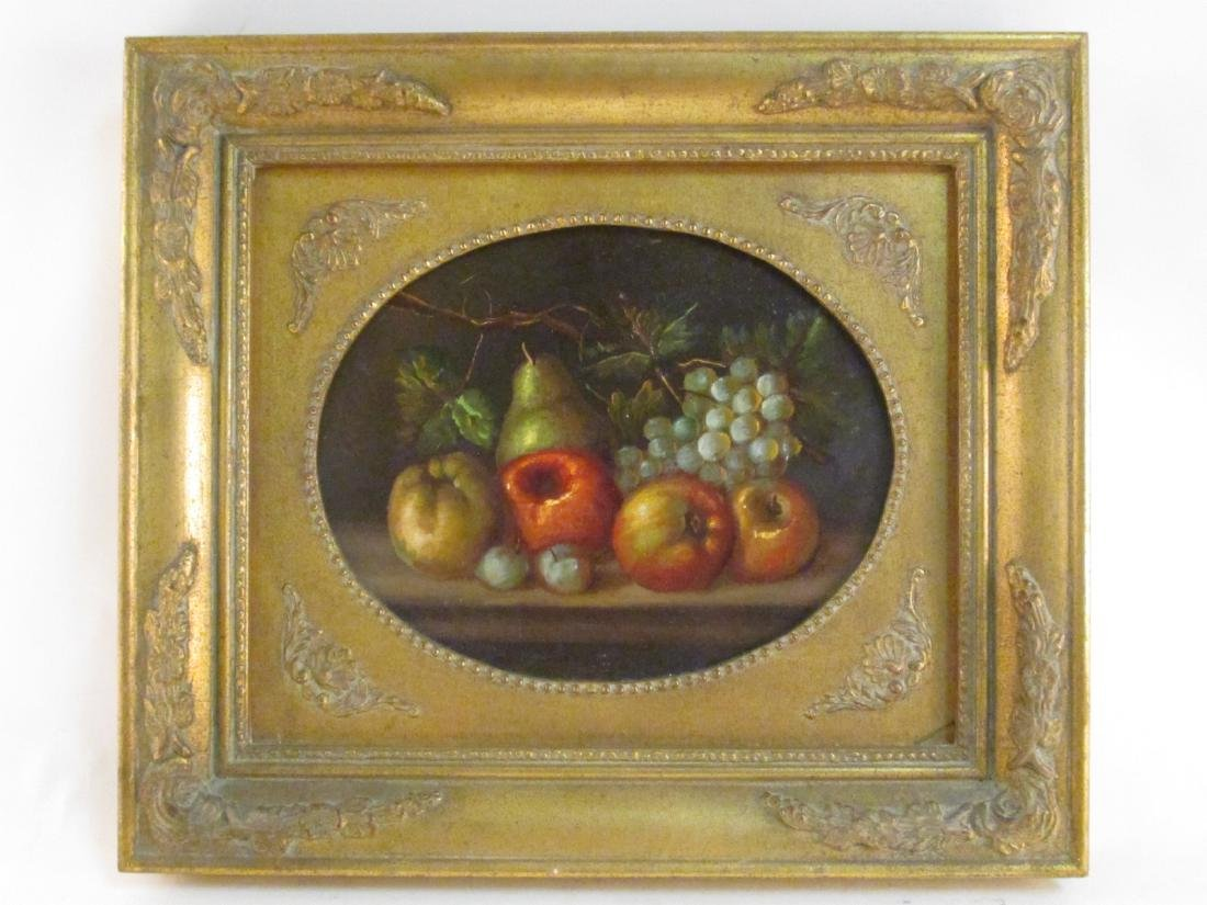 VINTAGE FRAMED OIL ON BOARD STILL LIFE PAINTING