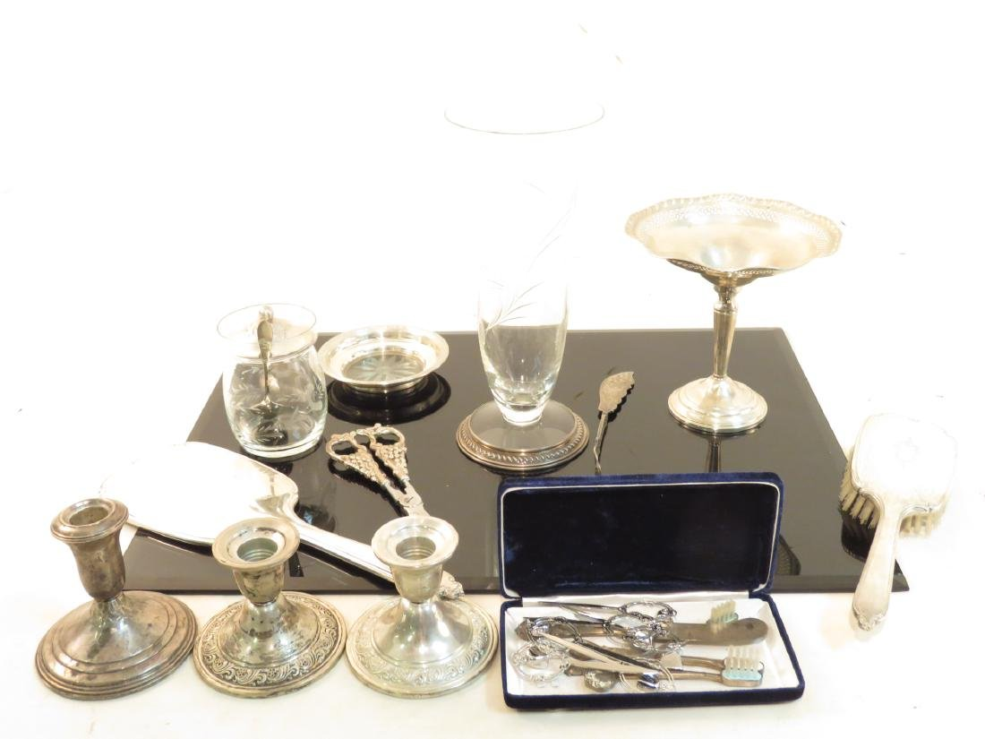 STERLING SILVER TABLEWARES, ETC. SCRAP & NOT