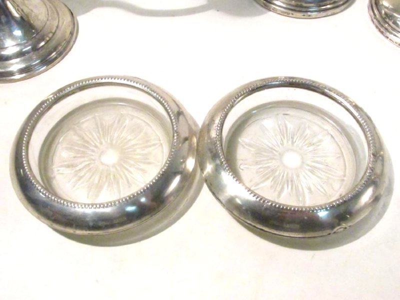 ASSORTED STERLING SILVER TABLEWARES: SALT/PEPPER - 7