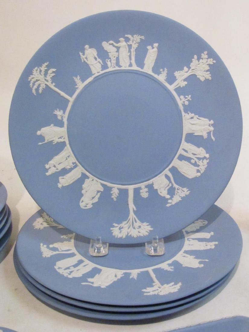 WEDGWOOD BLUE JASPERWARE DINNERWARE 18 PCS - 3