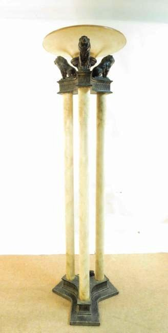 LARGE TORCHIERE FLOOR LAMP