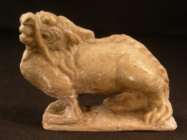 409: CHINESE SOAPSTONE DRAGON SCULPTURE SMALL