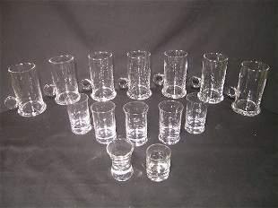 ASST GLASS IRISH COFFEE MUG SHOT GLASSES 14 PCS