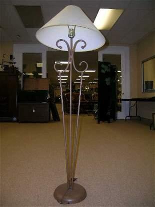 CONTEMPORARY WOOD METAL FLOOR LAMP