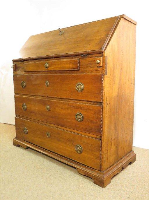 Antique Drop Front Secretary Desk >> Antique Oak Drop Front Secretary Desk