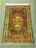 """SMALL HAND KNOTTED PERSIAN WOOL RUG 32"""" X 48"""""""