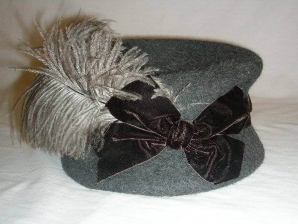 8: VINTAGE COUTURE MARINA KILLERY FEATHER WOOL HAT