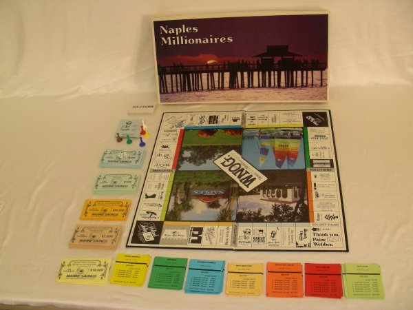 96: NAPLES MILLIONAIRES BOARD GAME