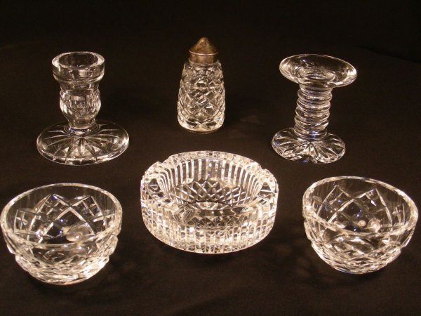 303: WATERFORD CRYSTAL ASHTRAY BOWLS ETC SIX PIECES