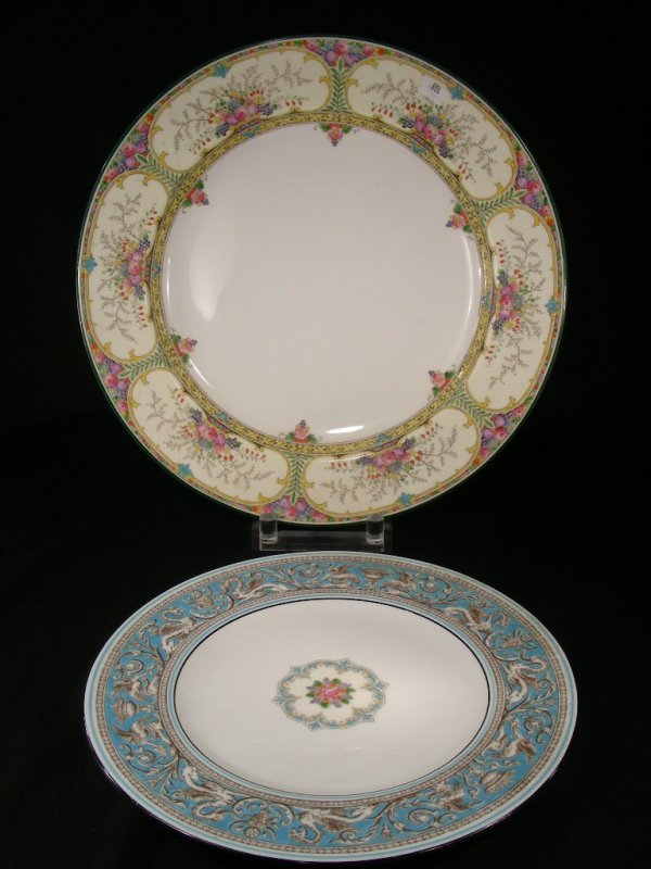 309: TWO WEDGWOOD CHINA PLATTERS ST AUSTELL  & BLUE DRA