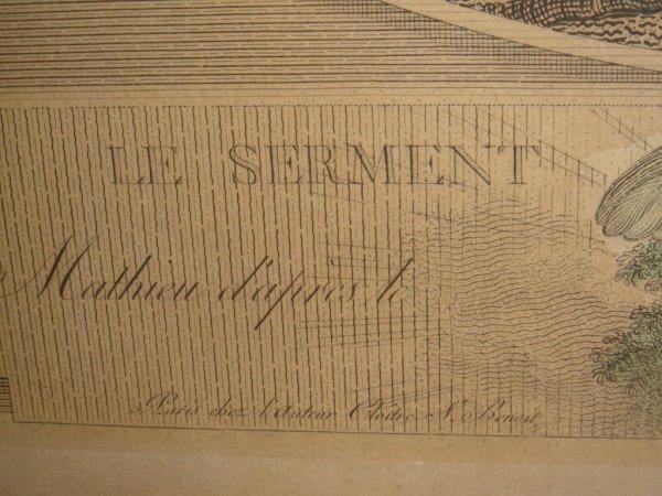 438: LE SERMENT D' AMOUR HAND COLORED ENGRAVING - 7