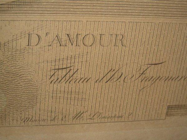 438: LE SERMENT D' AMOUR HAND COLORED ENGRAVING - 8