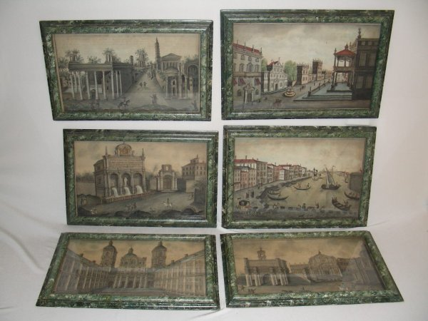 507: SIX EARLY 19TH C  ITALIAN ARCHITECTURAL PAINTINGS