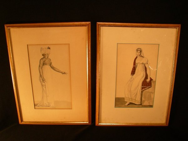 602: TWO INTERESTING 19TH C FASHION PRINT ENGRAVINGS