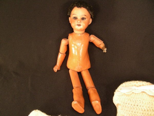 603: ANTIQUE ARMAND MARSEILLES BLACK BISQUE DOLL