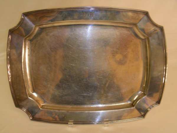 605: STERLING SILVER WALLACE SERVING TRAY