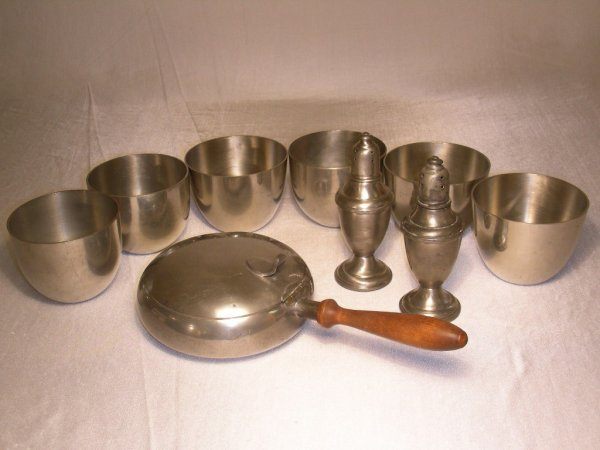 2: STIEFF AND INTERNATIONAL PEWTER 9 PCS
