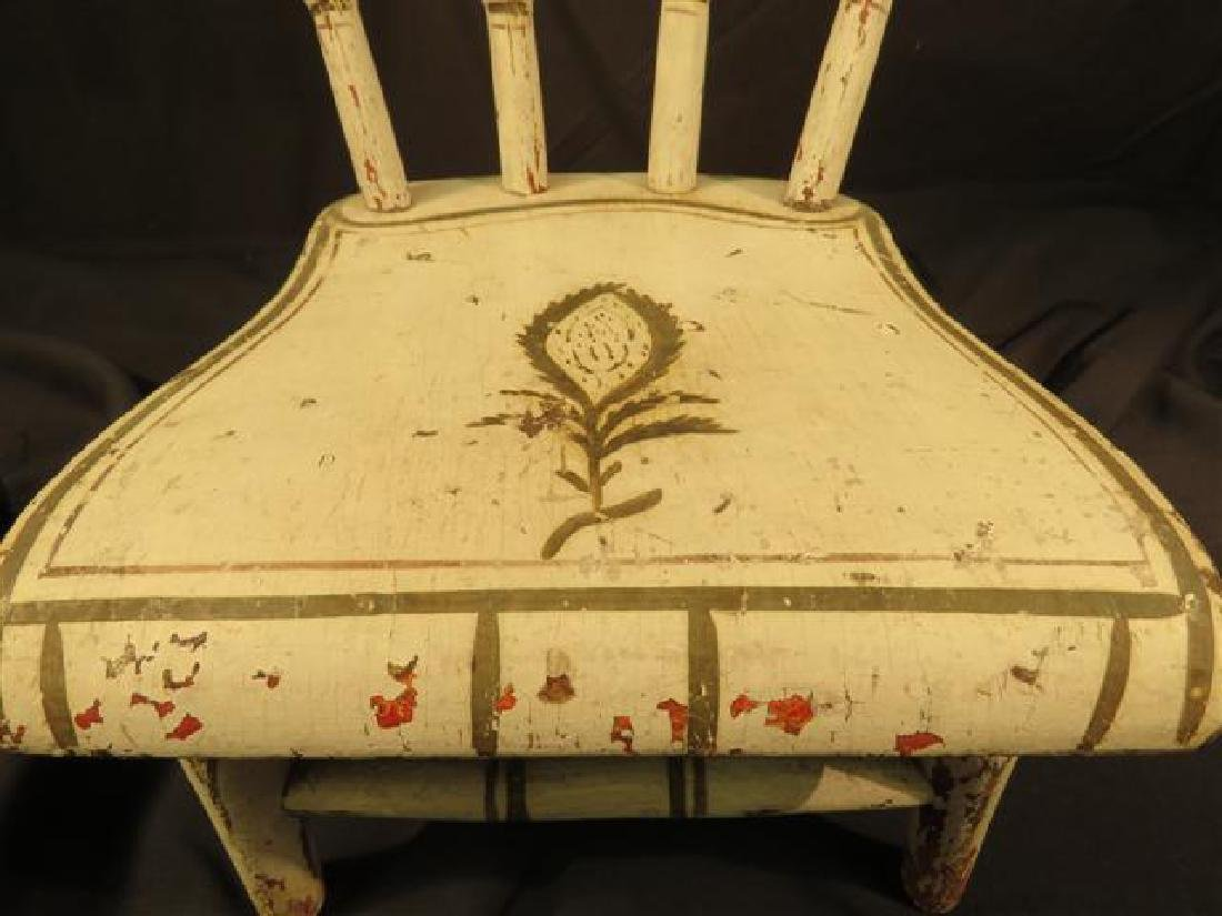 ANTIQUE MINIATURE DOLL'S WINDSOR STYLE CHAIR - 2