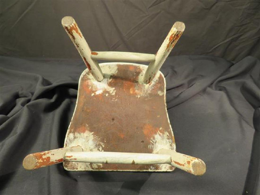 ANTIQUE MINIATURE DOLL'S WINDSOR STYLE CHAIR - 5