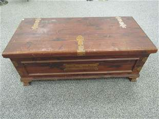 VINTAGE CEDAR CHEST WITH COPPER HINGES