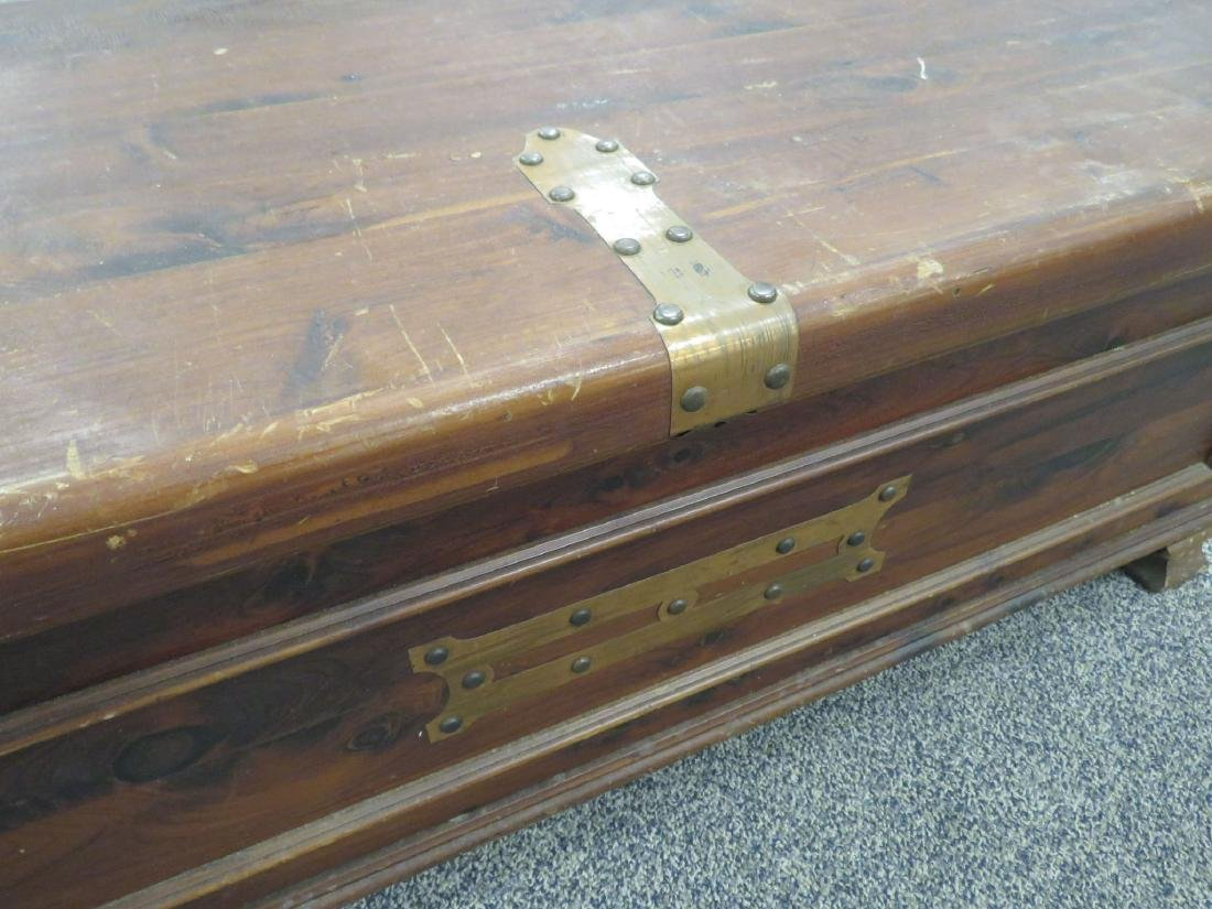 VINTAGE CEDAR CHEST WITH COPPER HINGES - 2