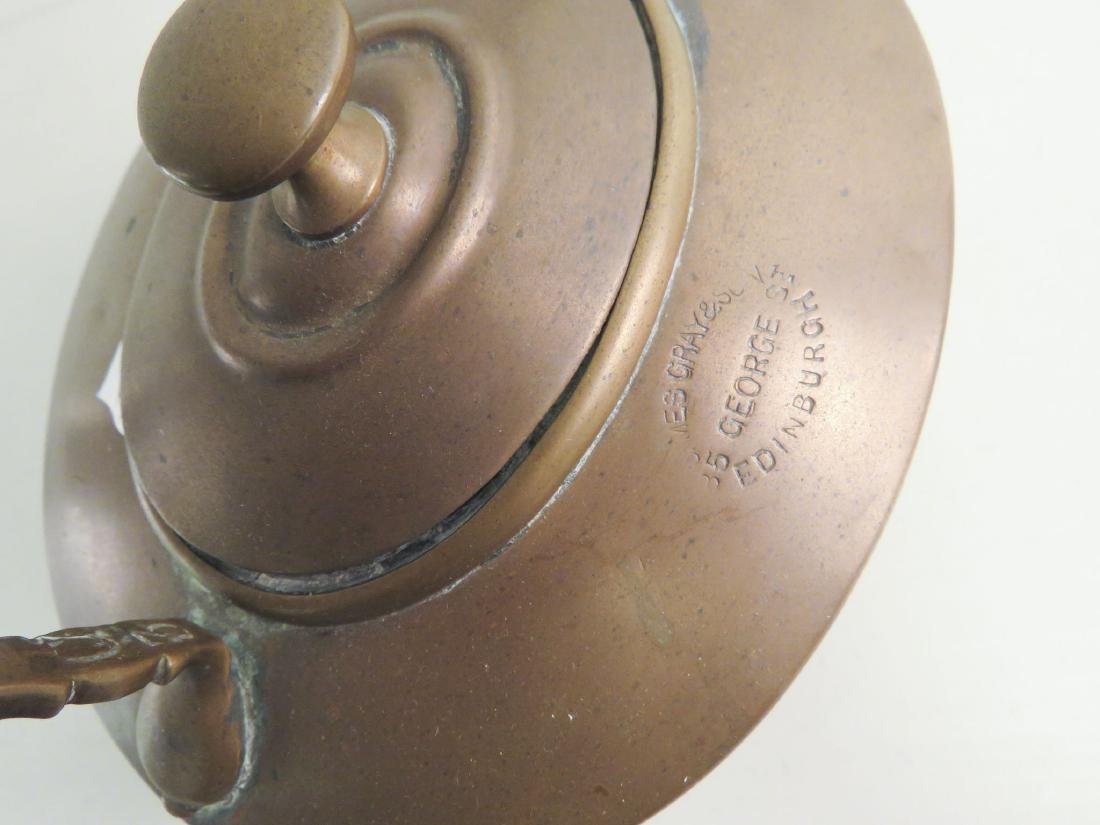 TWO ANTIQUE COPPER KETTLES - 6