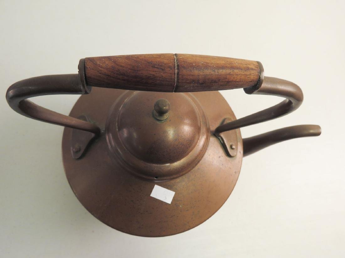 TWO ANTIQUE COPPER KETTLES - 8