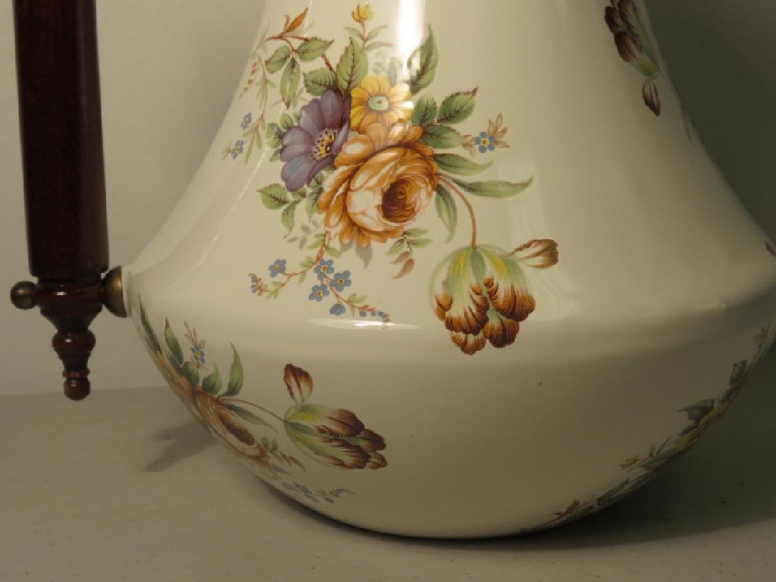MACKENZIE CHILDS FLORAL ENAMELED COFFEE POT - 2