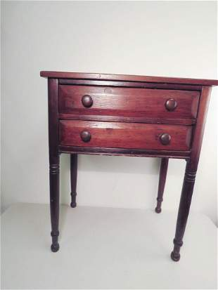 EARLY 19TH C TWO DRAWER STAND