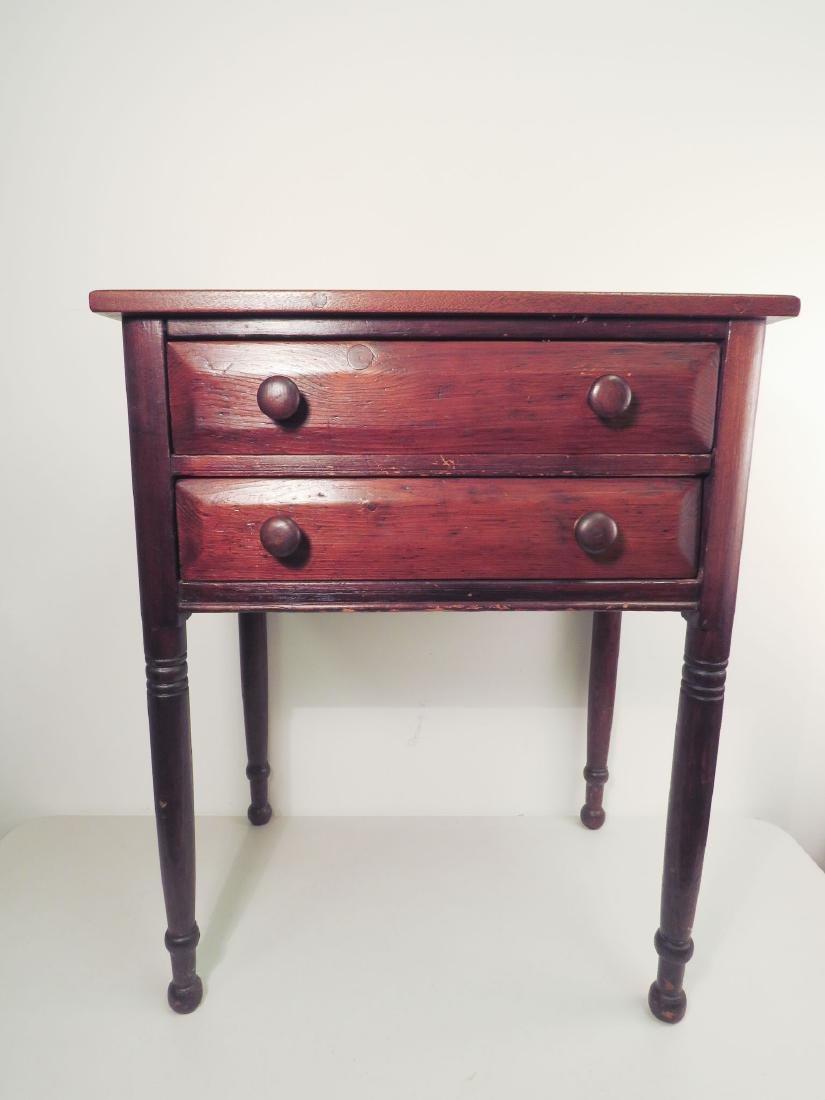 EARLY 19TH C TWO DRAWER STAND - 2