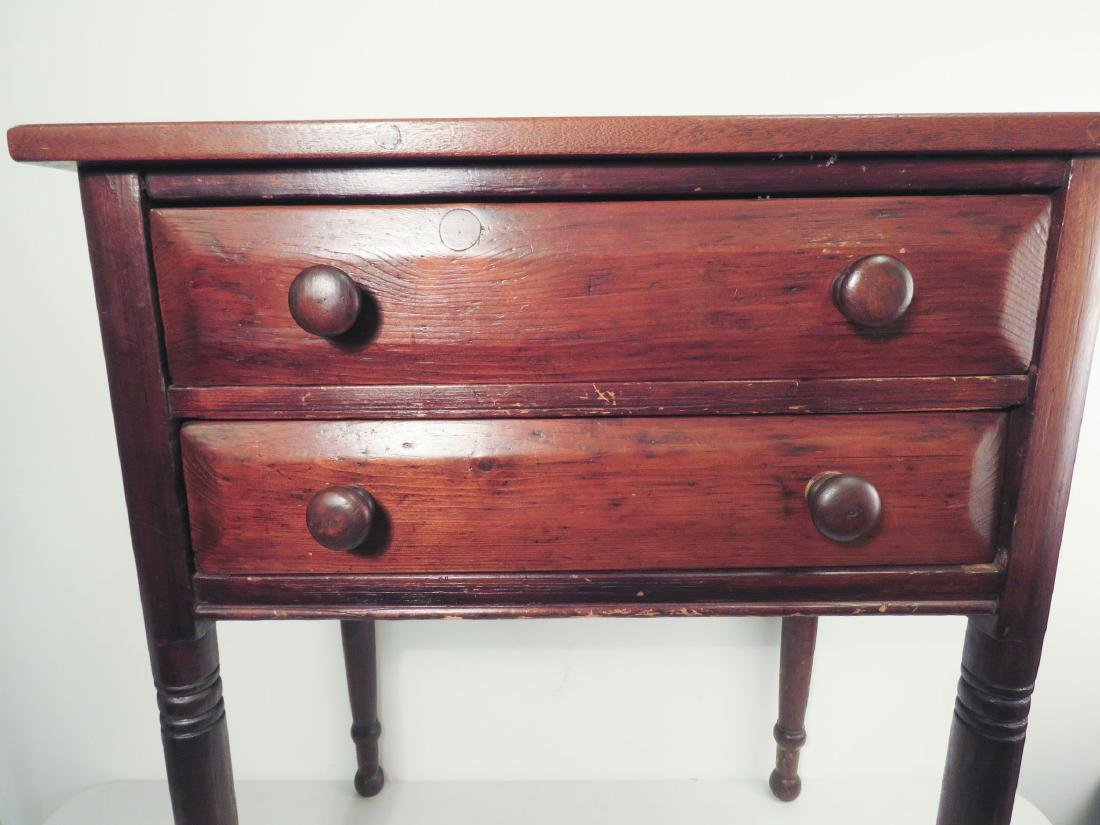 EARLY 19TH C TWO DRAWER STAND - 3