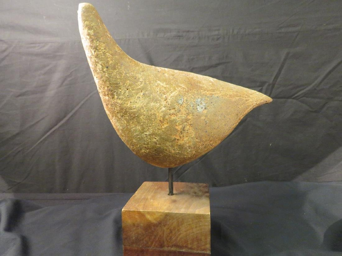 LILLYAN JACOBS RHODES CARVED STONE BIRD SCULPTURE