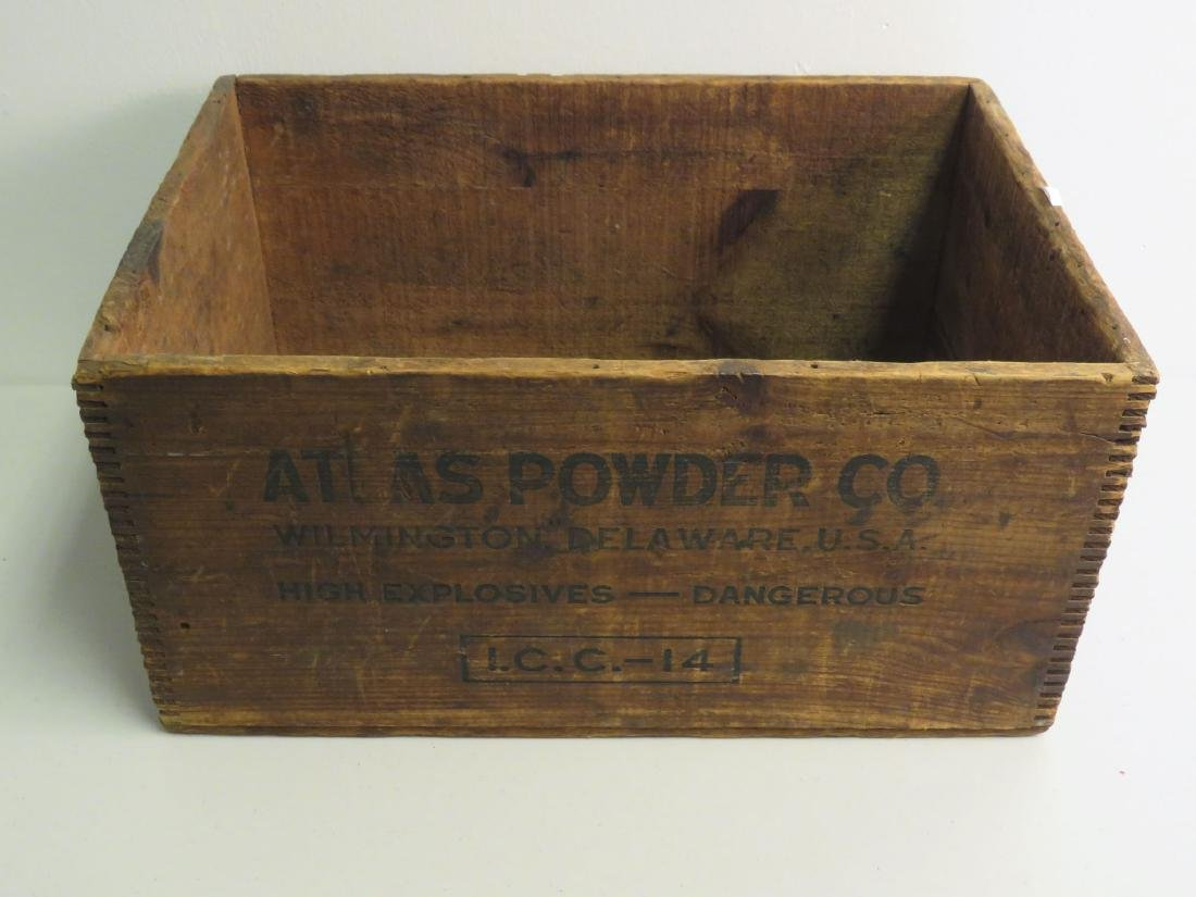 WOODEN CRATE - ATLAS POWDER CO. U.S.A