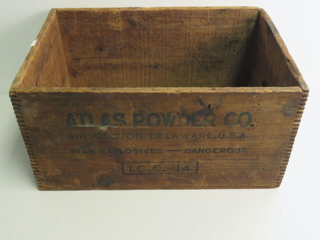 WOODEN CRATE - ATLAS POWDER CO. U.S.A - 2