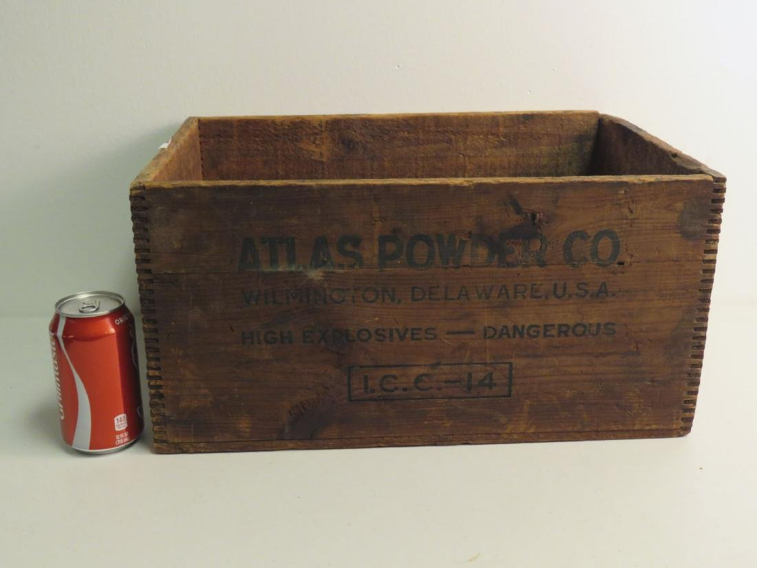 WOODEN CRATE - ATLAS POWDER CO. U.S.A - 4